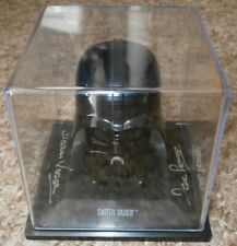 Dave Prowse hand signed Darth Vader helmet & case photo proof COA