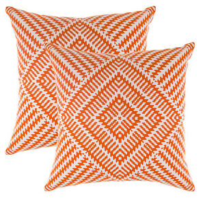 TreeWool (2 Pk) Cotton Throw Pillow Cover Kaleidoscope Design - 9 Color & 5 Size