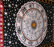 Astrology Zodiac Hippie Tapestry Twin Indian Horoscope Wall Hanging Bedspread AU