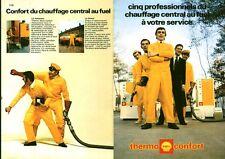 Publicité ancienne chauffage central au fuel Thermo Shell 1971