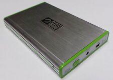 """2,5"""" USB 2.0 Gehäuse für IDE ATA Festplatten mit Backup-Software aus ALU #a747"""