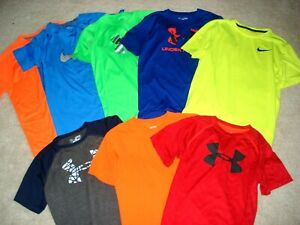 UNDER ARMOUR Youth ATHLETIC SHIRT TEE T-Shirt Y MD LG NIKE DRY FIT 10-12 14-16