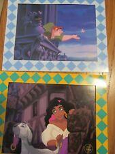 1996 Disney's Hunchback Of Notre Dame Litho Prints - Esmeralda & Quasimodo - New