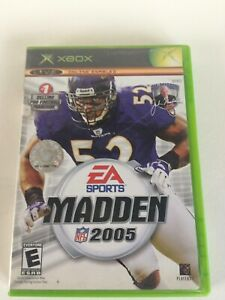 Xbox Madden NFL 2005 Action Sports Original Microsoft Video Game Adult Teems Kid