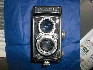 EXC! Rolleiflex 3.5 75mm f/2.8  Medium TLR Camera #1232xxx Case & Guide Book
