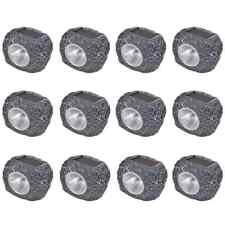 vidaXL 12x Lámparas Estacas Solares LED de Jardín en Forma de Piedra Luz Patio
