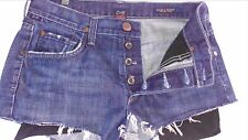 "Citizens of Humanity Evans Button Fly Jean Shorts Womens 27/28 Mini 31"" Waist"