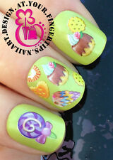 NAIL ART WRAP WATER STICKERS TRANSFERS DECALS ICE CREAM CAKES SWEET TREATS #401