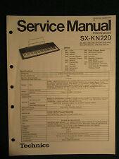 Technics PCM Keyboard SX-KN220 Service Repair Shop Manual Wiring SX KN 220