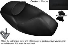 BLACK STITCH CUSTOM FITS APRILIA ATLANTIC 125 250 DUAL LEATHER SEAT COVER ONLY