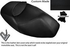 BLACK STITCH CUSTOM FITS APRILIA ATLANTIC 125 250 DUAL LEATHER SEAT COVER ONLY