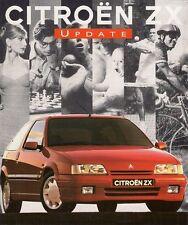 Citroen ZX Specification Update 1993 UK Market Leaflet Brochure 1.4i Volcane TD