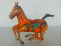 Rare Vintage wind Up Daiya Trademark Dancing Horse Litho Tin Toy , Japan