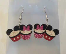 Cupcake Earrings Minnie Mouse Mickey Mouse Cake Charms