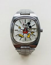 Rare, Old & Vintage 1982 Omega SEAMASTER Silver Oyster Mickey Mouse Mens Watch