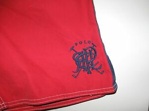 POLO Ralph Lauren Mens Board Shorts NWT S Red Mesh Lined