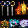 20LEDs Cork shaped Wine Bottle Fairy String Lights Xmas Wedding Party AA Battery