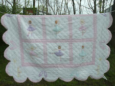 Little Girl's Ballerina Cotton Polyester Quilted Blanket ~ 82.5 x 67