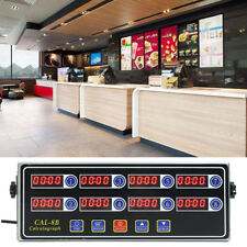 8 Channel Digital Timer Kitchen Cooking Timing LCD Clock Shaking Reminder CAL-8B