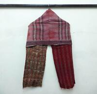 Silk Kantha Scarf  Head Wrap Stole Dupatta Hand Quilted Women Bandanas KJ34