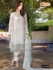 WHITE DESIGNER PAKISTANI SALWAR KAMEEZ BOLLYWOOD WEDDING PARTY WEAR DRESS SUIT 1
