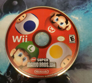 New Super Mario Bros (Wii, 2009) DISC ONLY Loose