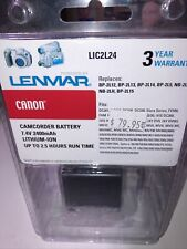 NEW LENMAR CANON Camcorder Battery LIC2L24:BP-2L12,2L14,2L13,2L15,2L5, NB-2L,2LH