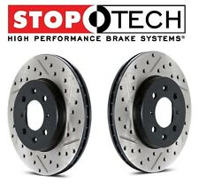 Ford Mustang 1994-1998 StopTech Front Drilled & Slotted Brake Rotors Set Pair