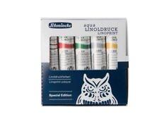 Schmincke Aqua Linoldruck Linoprint Colours Set 5x20 ml Set Christmas Edition