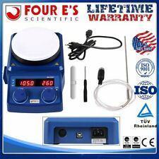 Four Es 5 Inch Led Digital Hotplate Magnetic Stirrerpt1000 Probe 100 1500rpm