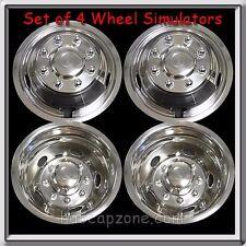 """Set 4 Wheel Liners Simulators 2011-2012 Dodge Ram Truck 3500 Dually 17"""" Metal"""