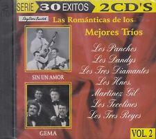 Los Panchos Los Dandys Las Romanticas De Los Mejores Trios 2CD New Nuevo Sealed