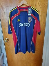 Adidas Men's Real Salt Lake MLS Pre-Game Soccer Jersey Blue/Red/Yellow 2XL New