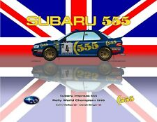 Print on Canvas Subaru Impreza 555 1995 #4 McRae / Ringer WC Union Jack 120 x 90
