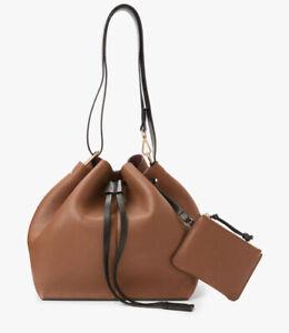 BNWT And/Or John Lewis Leather Boho Bag Tan