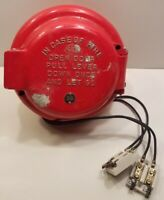 VINTAGE FARADAY PULL DOWN FIRE ALARM WALL MOUNT PULL STATION BOX RED