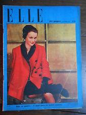 ►ELLE 64/1947 - MARLENE DIETRICH - JEAN GABIN - ARLETTY  - MODE FASHION VINTAGE