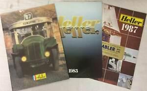 Heller Plastic Kit Dealers Shop Catalogues 1982 1983 1987 - very good condition
