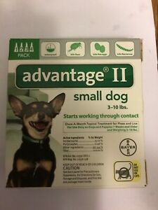 Advantage II 4-Dose Flea Treatment for Small Dogs, 3 to 10 lbs