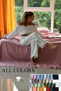 Linen HOME CLOTHES / pajama set woman / linen pajama set linen top/ pants woman