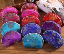 2PCS New Handmade Embroidered Gauze Silk Ring Box Coin Bag Purse Random Colors