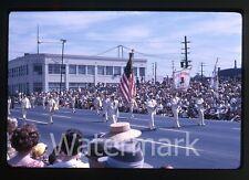 1963 kodachrome Photo slide Porltand OR parade  Royal Rosarians  Flag