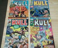 KULL THE DESTROYER lot of 4--#18,19,24,29--1976 MARVEL COMICS