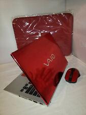 "Red Mirror Chrome Sony Vaio T Series 13"" 500gb 6gb Windows 10 i5 1.70GHz Office"