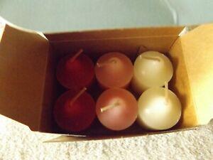 Party Lite 6 Votive Candles Velvet Rose VO6049 New In Box