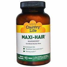 COUNTRY LIFE - MAXI HAIR - 90 VEGETARIAN TABLETS - HAIR & SKIN MULTIVITAMIN