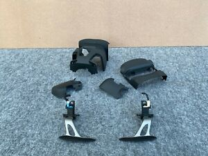 NISSAN 370Z 2009-2019 OEM STEERING WHEEL PADDLE SHIFTERS WITH COVERS (SET)