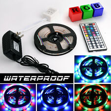 Multi-Color 5M 300 LED Flexible Strip Light 5050 3528 Power Supply Waterproof