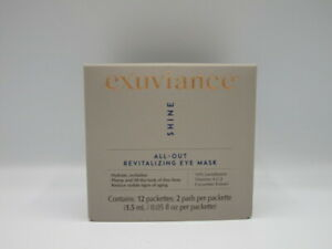 Exuviance Shine All-Out Revitalizing Eye Mask 12 Packets New In Box