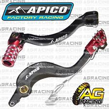 Apico Black Red Rear Brake & Gear Pedal Lever For Honda CR 125 2004 Motocross